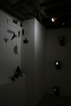 Installation of Fold Me To The Moon (left) and Moonlight (Tower) Nestboxes at Monty's Gallery. Copyright Anthony Carr