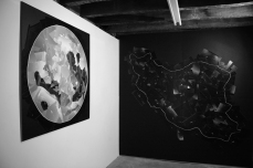 Installation of Svalinn Supermoon (left) and Supermoon Terra Timoris at Monty's Gallery. Copyright Anthony Carr